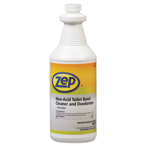 Zep Professional Toilet Bowl Cleaner, Non-Acid, qt, Bottle (ZPP1041410)