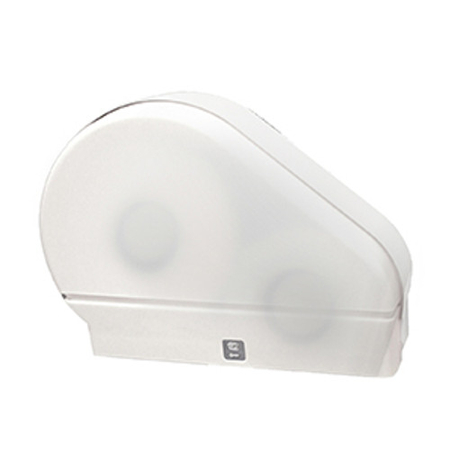 "Palmer Fixture Single 9"" Jumbo Tissue Dispenser with Stub Roll - White Translucent"