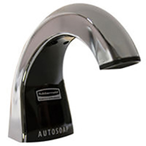 Rubbermaid OneShot Liquid Soap Dispenser - Polished Chrome/Black
