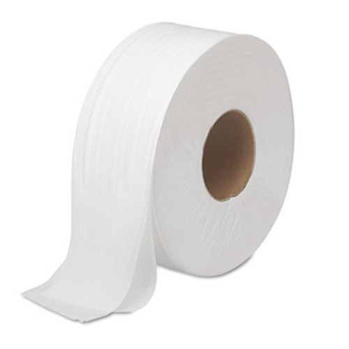 Boardwalk JRT Bath Tissue, Jumbo, 2-Ply, White, 1000 ft/Roll, 12 Rolls/Carton (BWK 6100)
