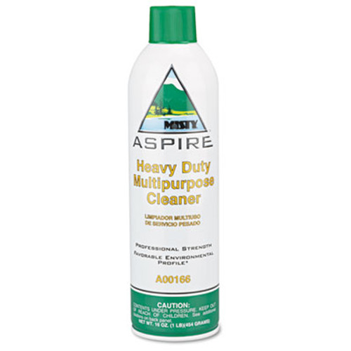 Misty Aspire Heavy-Duty Multipurpose Cleaner, Lemon Scent, 16oz Aerosol, 12/Carton (AMR1038045)