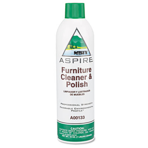 Misty Aspire Furniture Cleaner & Polish, Lemon Scent, 16oz Aerosol (AMR1038046)