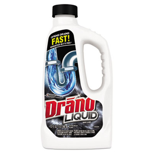 Drano Liquid Drain Cleaner, 32oz Safety Cap Bottle (SJN000116EA)