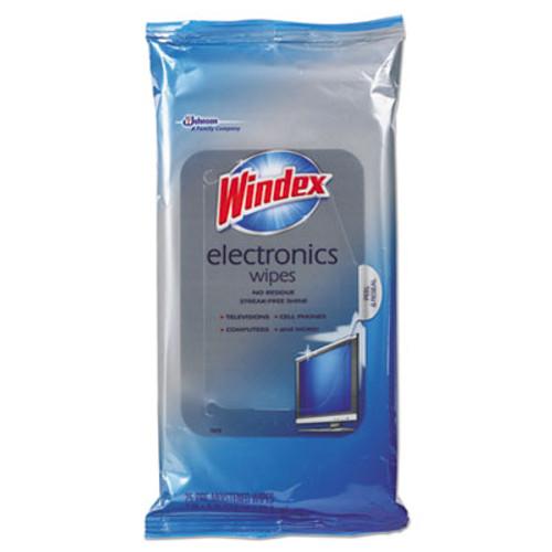 Windex Electronics Cleaner, 25 Wipes, 12 Packs Per Carton (SJN642517)