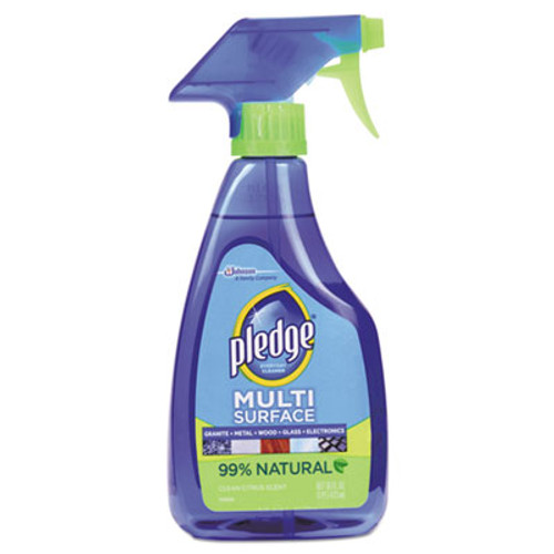 Pledge Multi-Surface Cleaner, Clean Citrus Scent, 16oz Trigger Bottle, 6/Carton (SJN644973)