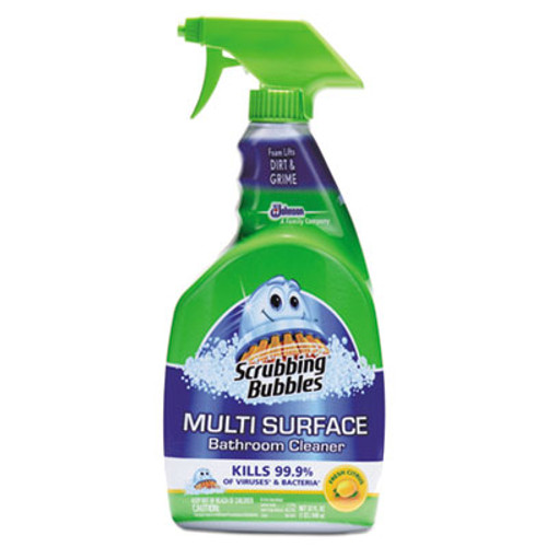 Scrubbing Bubbles Multi Surface Bathroom Cleaner, Citrus Scent, 32 oz Spray Bottle, 8/CT (SJN652468)