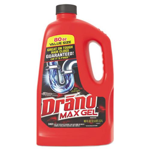 Drano Max Gel Clog Remover, 2.5qt Bottle, 6/Carton (SJN693772)