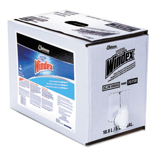 Windex Powerized Formula Glass/Surface Cleaner, 5gal Bag-in-Box Dispenser (SJN696502)