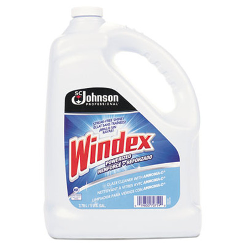 Windex Powerized Formula Glass & Surface Cleaner, 1gal Bottle (SJN696503EA)