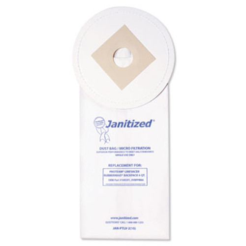 Janitized Vacuum Filter Bags Designed to Fit ProTeam LineVacer/Rubbermaid 9VBP06, 100/CT (APCJANPTLV210)