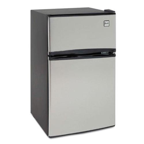 Avanti Counter-Height 3.1 Cu. Ft Two-Door Refrigerator/Freezer, Black/Stainless Steel (AVARA31B3S)