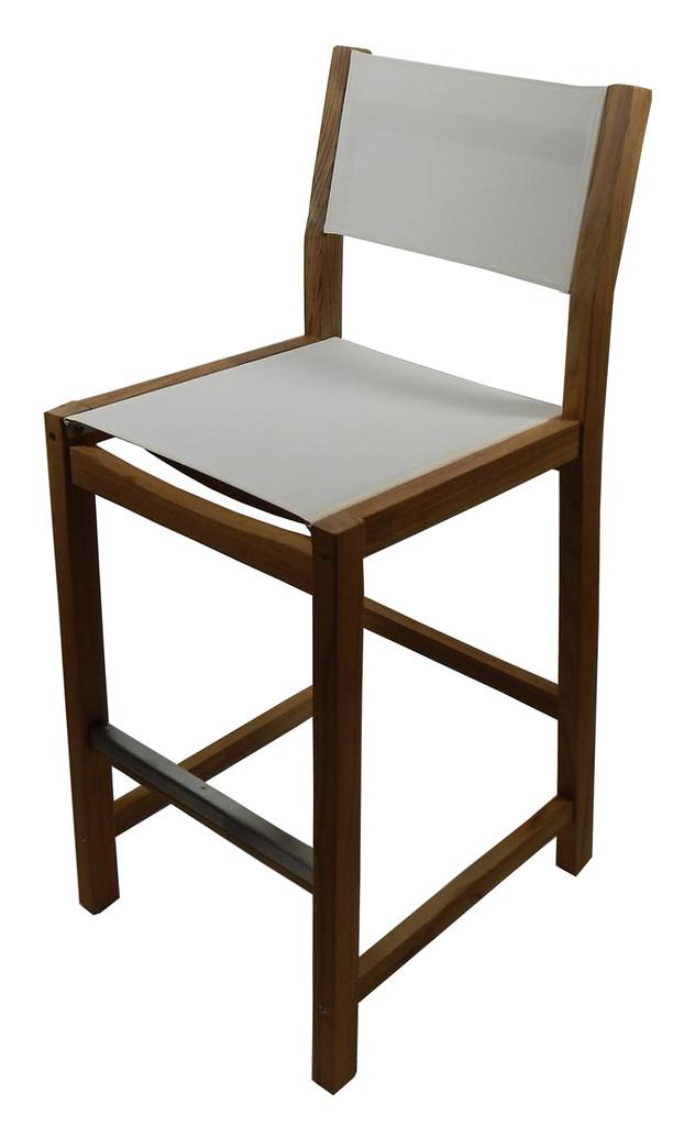 Dunes Bar Chair w/ White Durasling Fabric