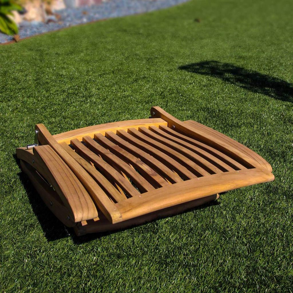 SEATEAK Weatherly Teak Folding 6-Position Deck Chair