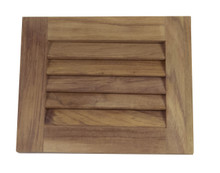 "Teak Louvered Insert 7-1/2""H (Horizontal)"