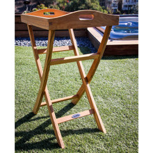 Teak Folding Serving Tray table perfect for your boat, patio or even indoors.