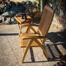 Weatherly Folding 6-Position Teak Deck Armchair