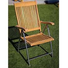 Teak Folding Deck Chair with SS legs