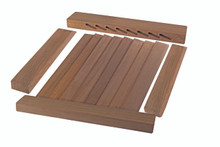 Louvered Door Side Rails;  2-pack (Build Your Own Louvered Door)