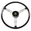"Empi 79-4059 Banjo Style Black Vintage 3 Spoke Steering Wheel, 15-1/2"" Diameter"