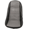 Empi 62-2613 Grey Vinyl Low Back Bucket Seat Cover. Dune Buggy Vw Baja Bug, Each