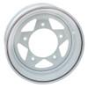 "Empi 10-1016 Vw Baja Bug 15X7  5 Lug White Steel Spoke Wheel 3-1/2"" Back Space"