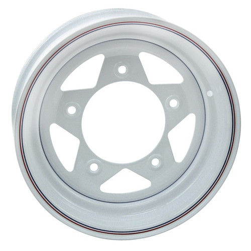 "Empi 10-1018 Vw Baja Bug 15X10  5 Lug White Steel Spoke Wheel 3-1/2"" Back Space"