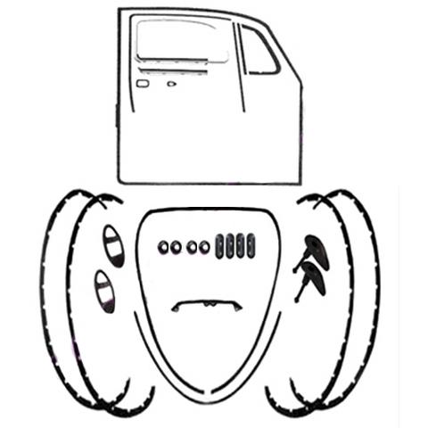 Vw Bug Body Rubber Kits