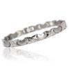 Novoa Women 's Quad-Element Titanium Magnetic Heart Bracelet with Satin Accents - 12,800 Gauss B428