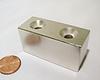 "Super Strong Block Magnets Neodymium  2""x.75""x1 NdFeB Rare Earth Magnets"