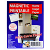A Pack of 5 Matte White Magnetic Inkjet Paper A4