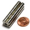 """Cylinder Magnet 1/4""""x3/8"""" N48 Neodymium - Liquidation"""