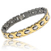 Magnetic Bracelet Titanium & Gold Therapy