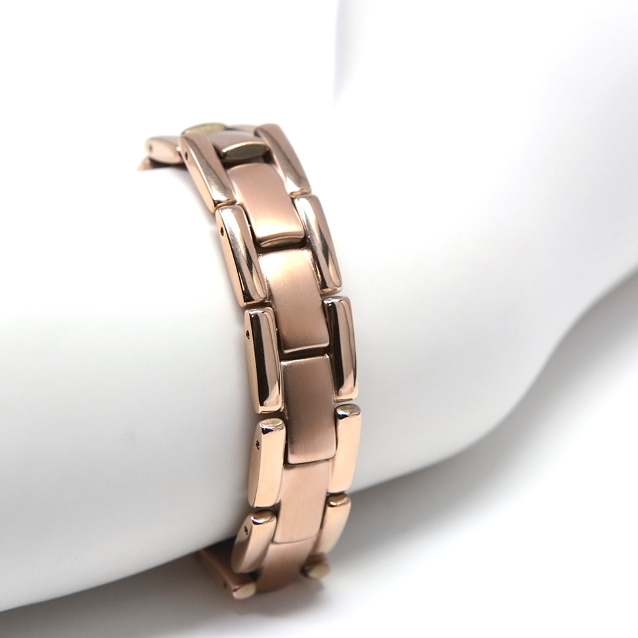 titanium bracelet r element colored dsc magnetic gauss rose quad men s mens novoa web gold jewelry
