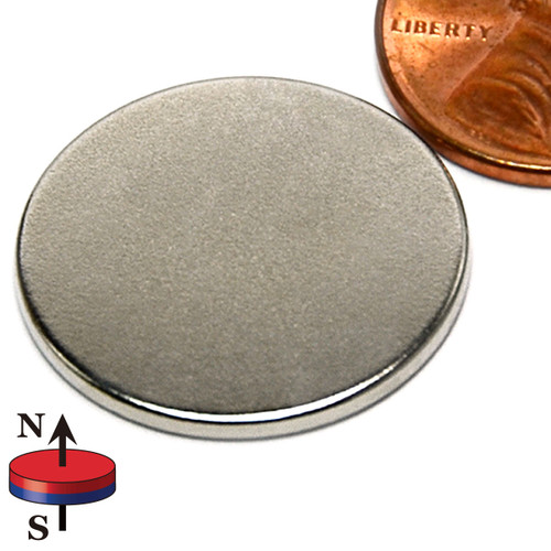 "7/8X1/16"" NdFeB Rare Earth Disc Magnet"