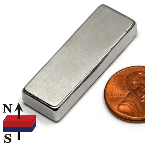 "1 1/2x1/2x1/4"" Rare Earth Permanent Magnet"