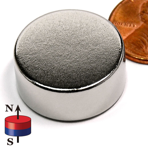 super magnets for sale N35 28mm x 10mm Neodymium Rare Earth Disc Magnet w/ penny & Poles indicator