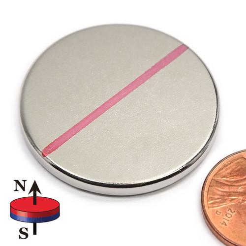 "1.26""x1/8"" Neodymium Rare Earth Disc Magnet"