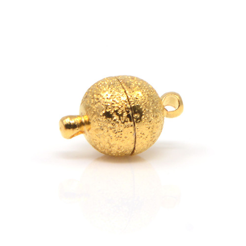 Gold Sandstone Finish Round Neodymium Magnetic Bracelet Clasp