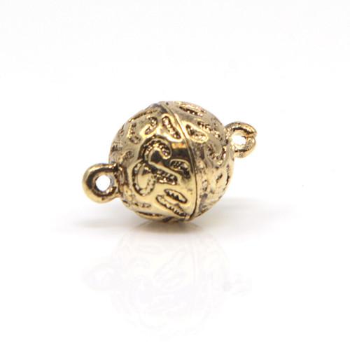 Antique Styled Gold Neodymium Magnetic Bracelet Clasp