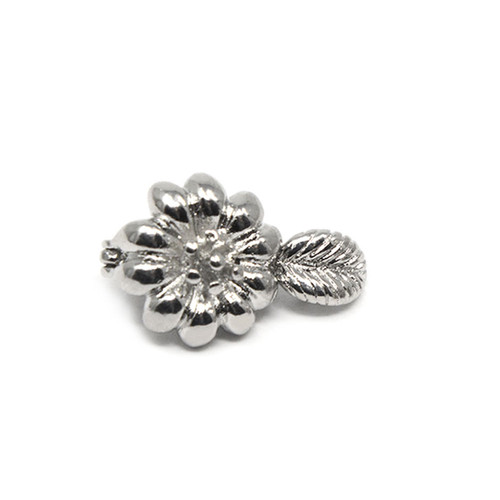 Silver Colored Sunflower Neodymium Magnetic Bracelet Clasp