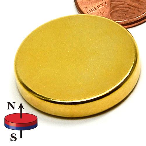 """1""""X3/16"""" N40 Neodymium Uni-Pole Therapy Magnet"""