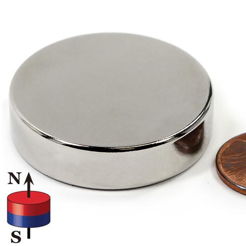 "1 1/2 x 3/8"" N45 Disc Neodymium Magnet"