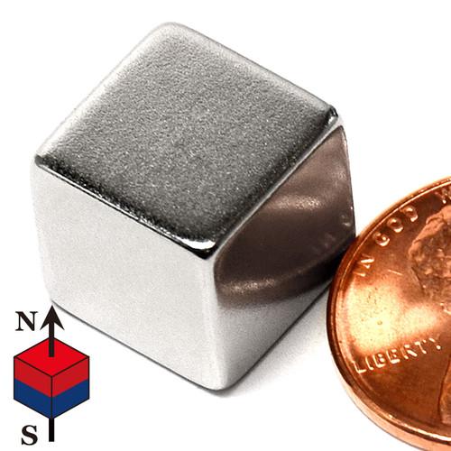"""1/2"""" Neodymium Rare Earth Cube Magnet"""
