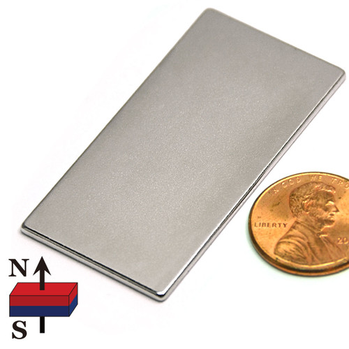 "2x1x1/16"" NdFeB Rare Earth Rectangle Magnet"