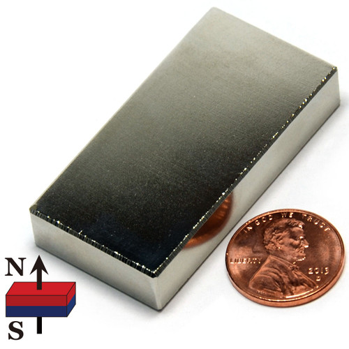 "2x1x3/8"" NdFeB Rare Earth Magnet Ultra High Temp"