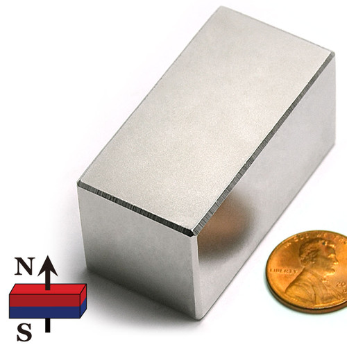 "2x1x1"" NdFeB Rare Earth Magnet"