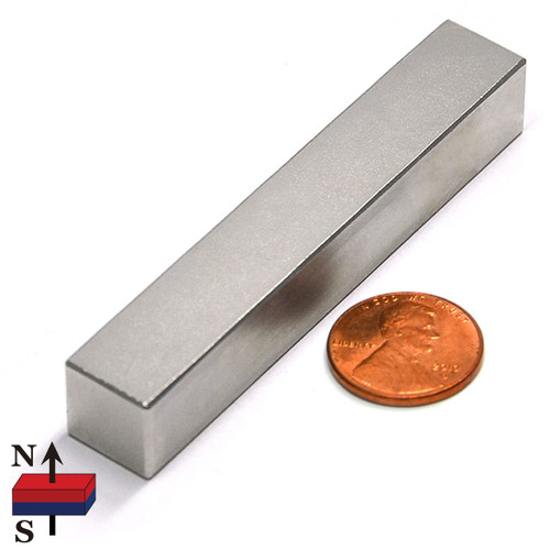 "3 x 1/2 x 1/2"" Rectangular Neodymium Magnet"