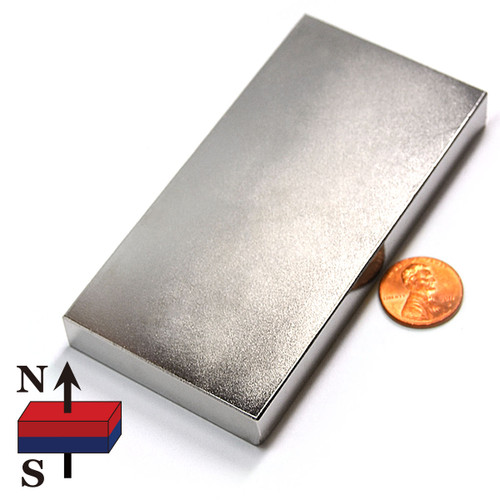 "4x2x1/2"" NdFeB Rare Earth Magnet"