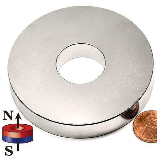 "N42 3""OD x 1""ID x 1/2"" Neodymium Rare Earth Ring Magnet"