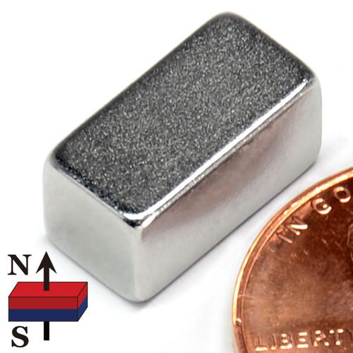 "N50 Neodymium Magnet 1/2x1/4x1/4"" Rectangle"
